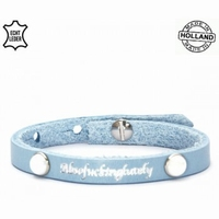 Armband met tekst blauw
