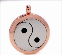 Aroma / parfum ketting met hanger meditatie brons kleur