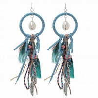 Oorbellen Boho Feather