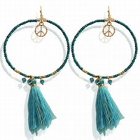Earrings Fibe -turquoise-